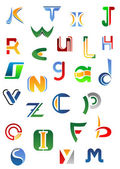 Alphabet letters and icons from A to Z — Stock Vector