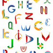 Alphabet symbols from A to Z — Vettoriali Stock