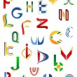 Alphabet symbols from A to Z — Stockvector #11206009