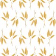 Seamless background with wheat ears - Stockvektor