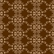 Brown seamless background with floral patterns — Stock Vector
