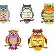Royalty-Free Stock Vector Image: Color cartoon owls