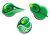 Tennis sports icons and symbols — Stock Vector