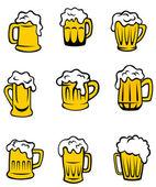 Coffret de verres à bière — Vecteur