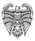 Kraftfull eagle eller griffin — Stockvektor