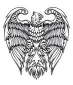 Powerful eagle or griffin — Vector de stock