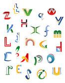 Conjunto de símbolos, letras y los iconos — Vector de stock