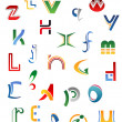 Set of symbols, letters and icons — Stock Vector #11349896