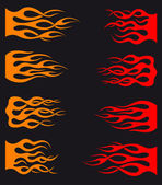Tribal flames — Stock Vector