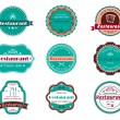 Food and restaurant labels — 图库矢量图片