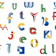 Set of alphabet symbols — Vettoriali Stock