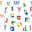 Stock Vector: Set of alphabet symbols
