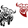 Bull and buffalo mascots — Stock Vector