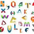 Set of alphabet symbols from A to Z — Stock Vector