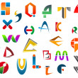 Stock Vector: Set of alphabet symbols from A to Z
