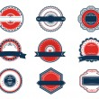 Retro blue and red labels set — Stock Vector #11800973