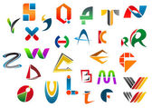 Set of alphabet symbols from A to Z — Vettoriale Stock