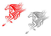 Horse mascots — Stock Vector