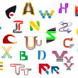 Colorful letter symbols and icons - Stock Vector