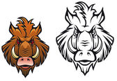 Angry boar mascot — Stock Vector