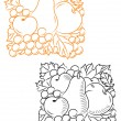 Royalty-Free Stock Vector Image: Fruits embellishment