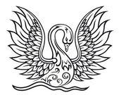 Elegant swan bird — Stock Vector