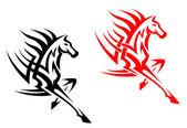 Tribal mustang stallion — Stock Vector