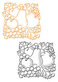 Fruits embellishment — Stock Vector