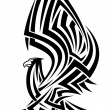 Royalty-Free Stock Vector Image: Tribal eagle tattoo