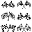 Checkered flags set - Stock Vector