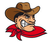 Cartoon cowboy — Stock Vector