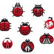 Royalty-Free Stock Vector Image: Ladybugs and ladybirds
