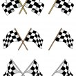Stock Vector: Set of racing checkered flags