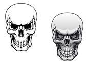 Cráneos humanos — Vector de stock