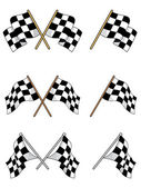 Set of racing checkered flags — Stock Vector