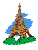 Eiffel tower in Paris — Stock Vector
