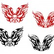 Royalty-Free Stock Vector Image: Bikers and bikes tattoos