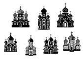 Churches and temples — Stock Vector