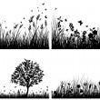 Meadow silhouettes — Stock Vector #10772740