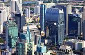 Aerial view at the Bangkok city — Stock Photo