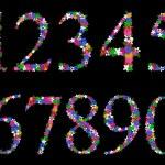 Постер, плакат: Floral numeral set