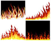 Fire background set — Stock Vector