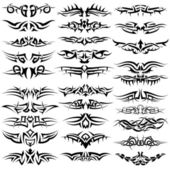 Tattoos set — Stock Vector