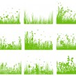 Meadow silhouette set — Stock Vector #11284868