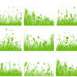 Meadow silhouette set — Stock Vector #11284884
