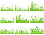 Meadow silhouette set — Stock Vector