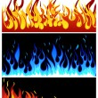 Stock Vector: Fire background set