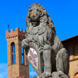 Heraldic lion — Stock Photo
