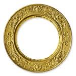 Золотой круг металл кадр — Стоковое фото