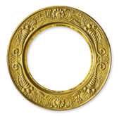 Gold Metal Circle Frame — Stock Photo